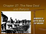 Chapter 27: The New Deal and Reform