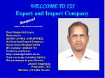 WELCOME TO 7SS Export and Import Company
