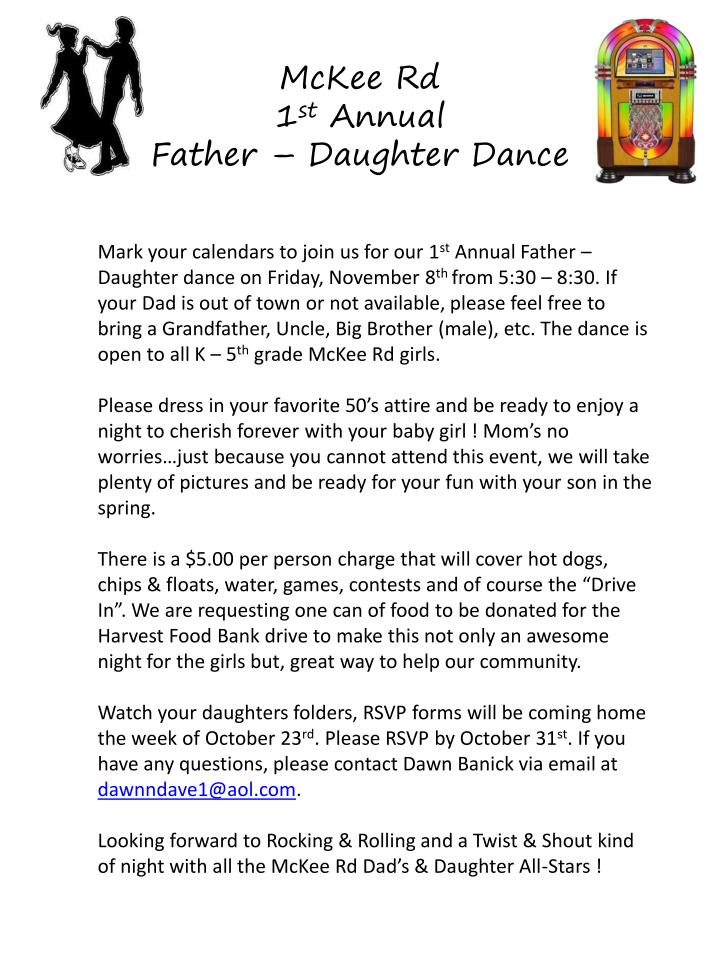 PPT - McKee Rd 1 st Annual Father – Daughter Dance PowerPoint