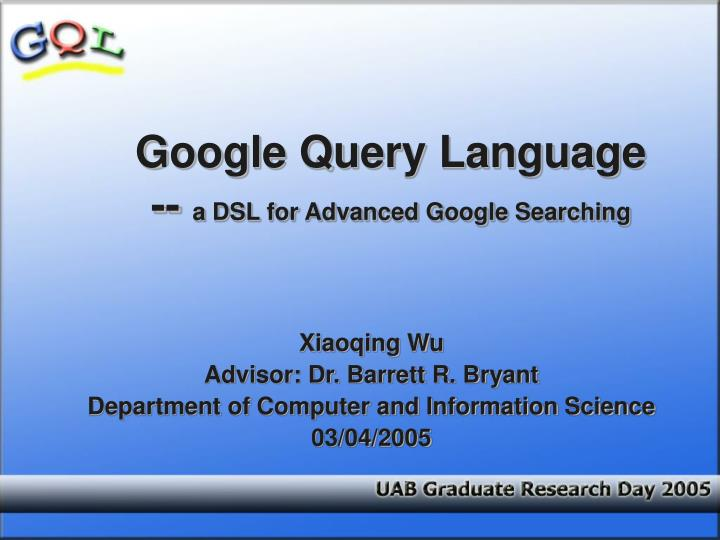 google query language a dsl for advanced google searching n.