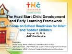 Presenters: Leticia Young, MSHS Infant and Toddler Education Director