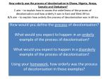 How would you define the  process  of decolonisation?