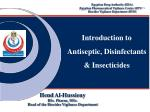 Introduction to Antiseptic, Disinfectants & Insecticides
