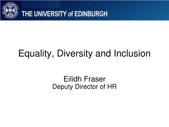 equality diversity and inclusion n.