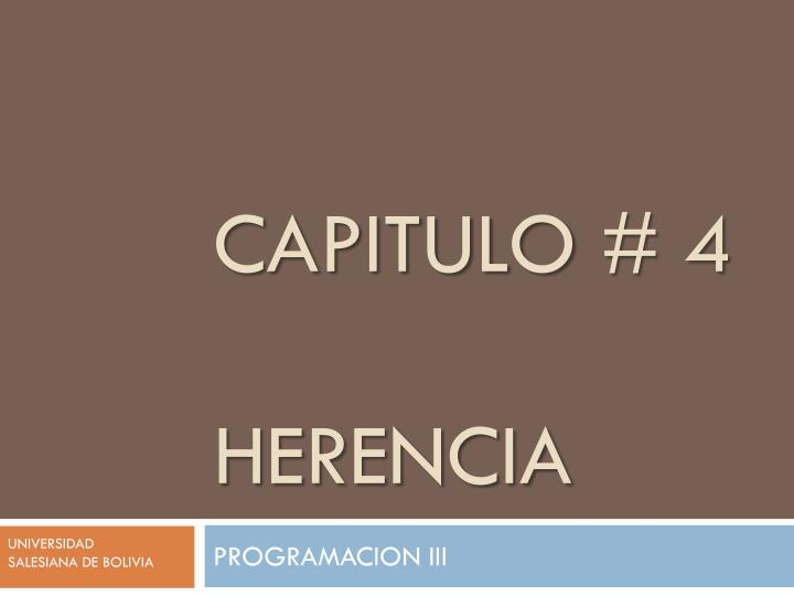 capitulo 4 herencia n.