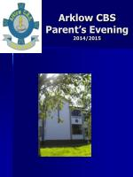 Arklow CBS Parent's Evening 2014/2015