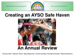 Creating an AYSO Safe Haven An Annual Review