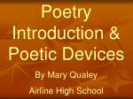 Poetry Introduction & Poetic Devices By Mary Qualey Airline High School