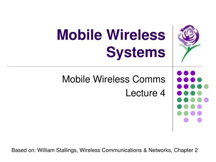 mobile wireless systems n.