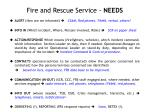Fire and Rescue Service - NEEDS
