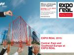 EXPO REAL 2013:  Central, East and Southeast Europe at EXPO REAL