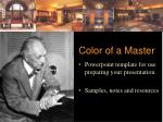 Color of a Master
