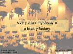 A very charming decay in   a beauty factory.