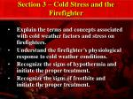 Section 3 – Cold Stress and the Firefighter