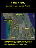 Citrus County Located in west central Florida