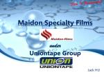 Maidon Specialty Films under Uniontape Group