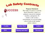 Lab Safety Contracts