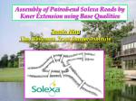 Assembly of Paired-end Solexa Reads by Kmer Extension using Base Qualities