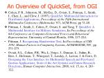 An Overview of QuickSet, from OGI