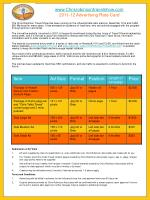 Chrisrobinsontravelshow 2011-12 Advertising Rate Card