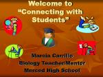 "Welcome to ""Connecting with Students"""
