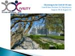 Choosing to be Civil @ UConn Lunchtime Session for Employees August 30 & August 31