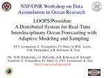 NSF/ONR Workshop on Data Assimilation in Ocean Research