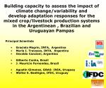 Building capacity to assess the impact of climate change/variability and