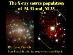 The X-ray source population  of  M 31 and  M 33