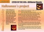 CITIES IN THE USA - 13 Horror Haunts