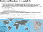 Continental Crust and Mountain Belts