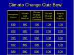 Climate Change Quiz Bowl