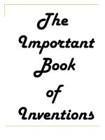 The Important Book of Inventions