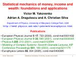 Statistical mechanics of money, income and wealth: foundations and applications