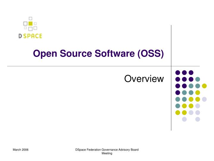 open source software oss n.