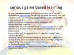 serious game based learning