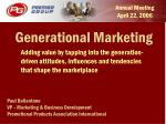 Generational Marketing