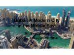 Dubai: A Modern City in the Middle East