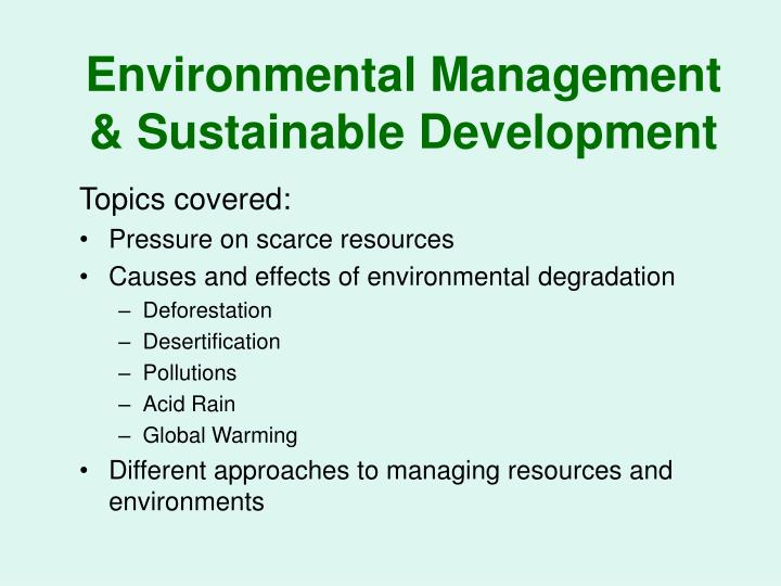 environmental management sustainable development n.