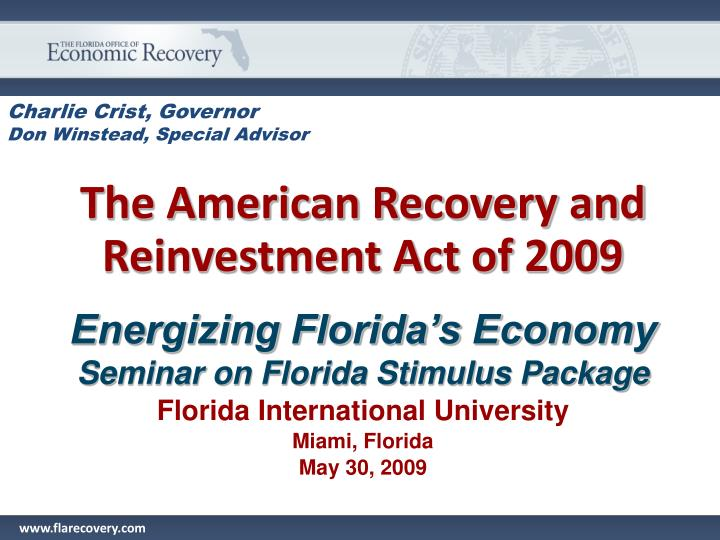 the american recovery and reinvestment act of 2009 n.
