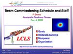 Beam Commissioning Schedule and Staff P. Emma Accelerator Readiness Review Dec. 4, 2008