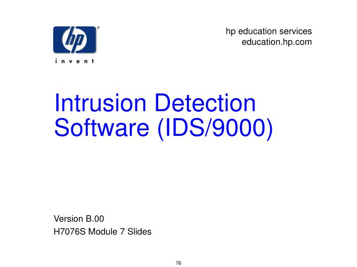 intrusion detection software ids 9000 n.