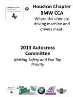 Houston Chapter BMW CCA Where the ultimate driving machine and drivers meet.