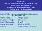 Project Title : Unknowledge of The ILO Convention 		 No. 87 and No. 98