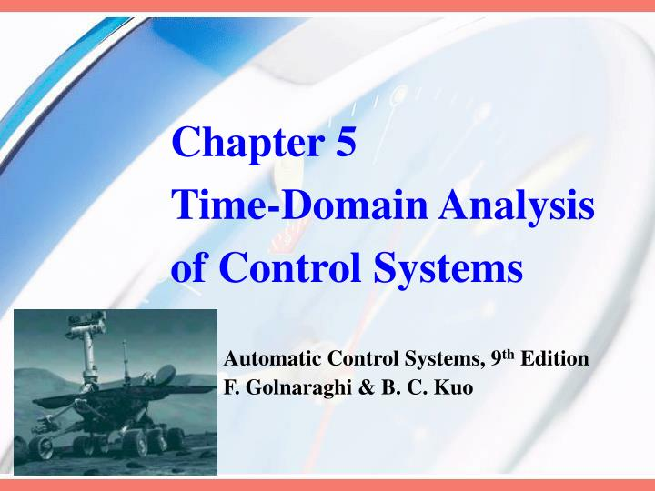 chapter 5 time domain analysis of control systems n.
