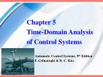 Chapter 5 Time-Domain Analysis of Control Systems