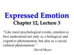 Expressed Emotion Chapter 12, Lecture  3