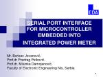 SERIAL PORT INTERFACE FOR MICROCONTROLLER EMBEDDED INTO INTEGRATED POWER METER