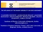 THE INFLUENCE OF THE RADON VARIABILITY ON DOSE ASSESSMENT
