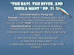 """""""The Bass, The River, and Sheila  Mant  """" pp. 31-35"""